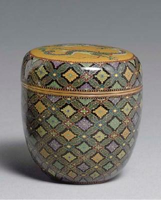 A Cloisonné Enamel Tea Caddy