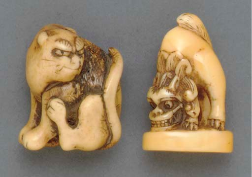 A Marine Ivory Netsuke and a S