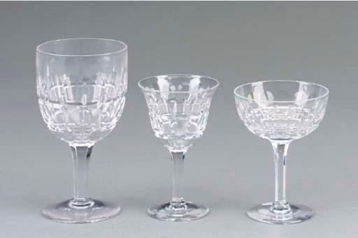 A STUART CUT-GLASS PART STEMWA