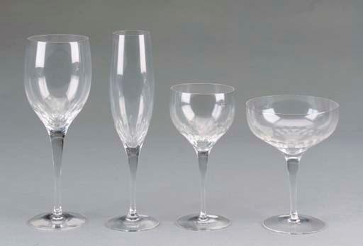 A CUT-GLASS PART STEMWARE SERV
