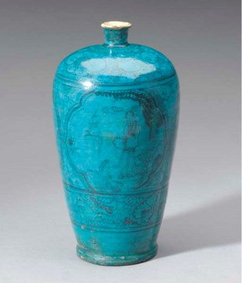 A CHINESE CIZHOU PAINTED AND T