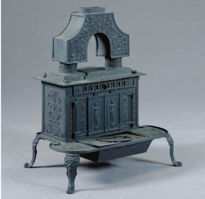 AN AMERICAN CAST-IRON STOVE,