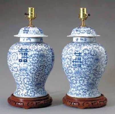 A PAIR OF CHINESE EXPORT BLUE