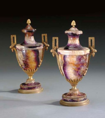 A PAIR OF ENGLISH GILT-METAL M