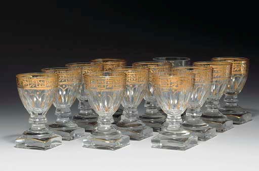 A SET OF TWELVE GLASSES