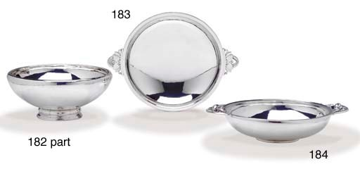 TWO DANISH SILVER SERVING BOWL