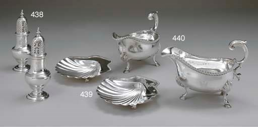 A PAIR OF GEORGE III SILVER SH