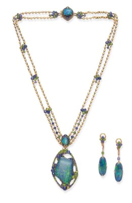 A SUITE OF BLACK OPAL, SAPPHIR