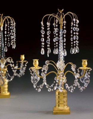 A PAIR OF BALTIC ORMOLU AND CU