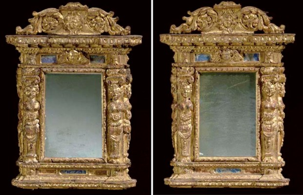 A PAIR OF ITALIAN MARBLE-INSET