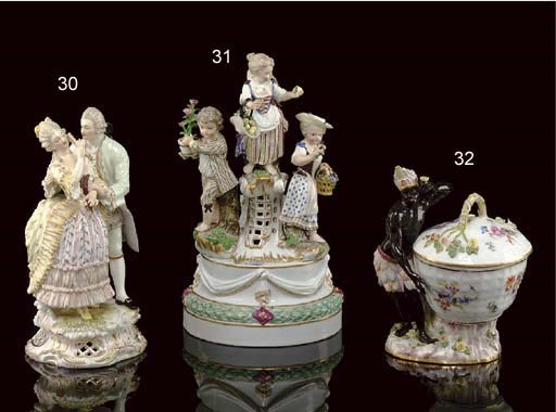 A MEISSEN FIGURE GROUP, 'A FOR