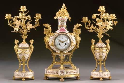 Louis XVI style ormolu- and Se