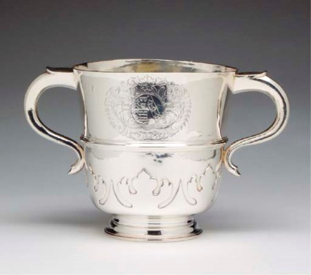 A WILLIAM III SILVER TWO HANDL