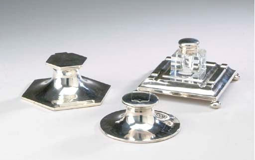 TWO GEORGE V SILVER-MOUNTED IN