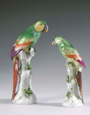 TWO CONTINENTAL PORCELAIN FIGU