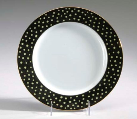 A TIFFANY BLACK-GROUND PORCELA