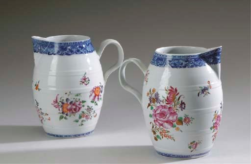 TWO SIMILAR CHINESE EXPORT POR