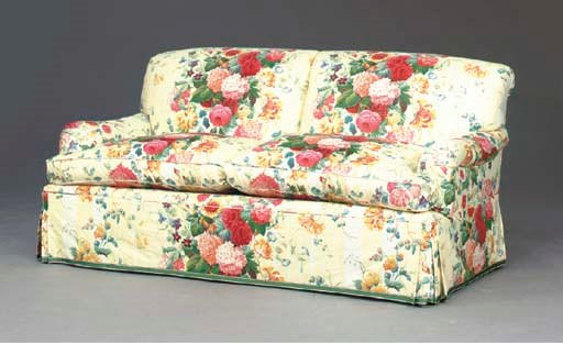 A contemporary floral chintz covered sofa modern for Chintz couch