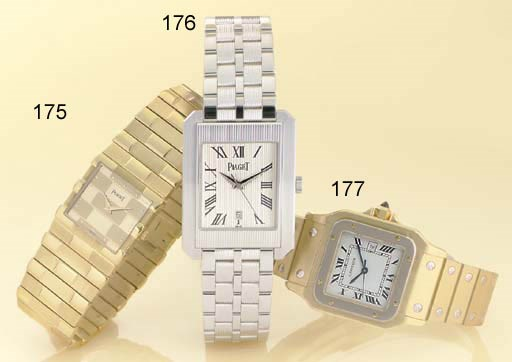 CARTIER. AN 18K TWO-COLOR GOLD