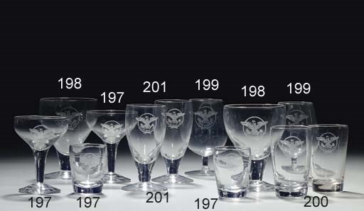 A set of six cocktail glasses