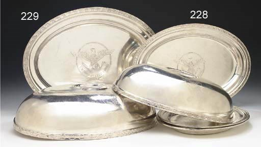 An oval serving tray and an ov