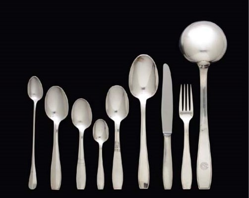 First class flatware used on b