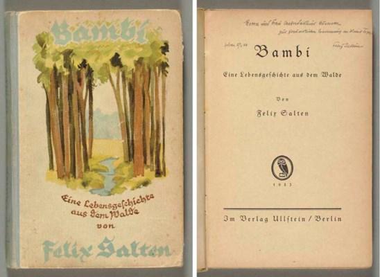 SALTEN, Felix (1869-1945). Bam