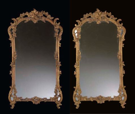 A PAIR OF VICTORIAN GILTWOOD M