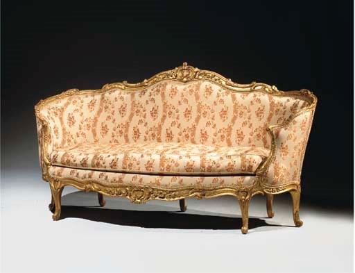 canape corbeille d 39 epoque louis xv estampille de jean. Black Bedroom Furniture Sets. Home Design Ideas