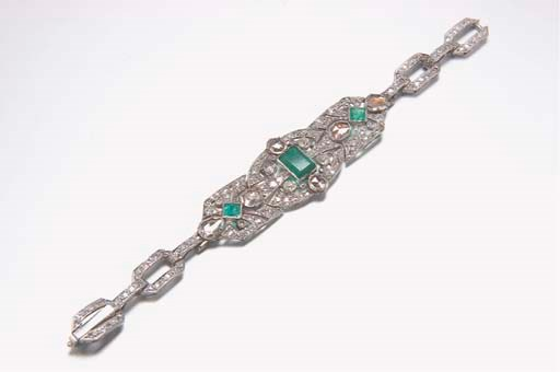 BRACELET EMERAUDES ET DIAMANTS