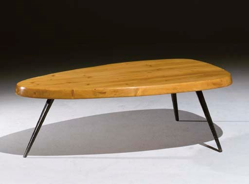 Charlotte perriand et jean prouv table basse 39 forme libre 39 1953 - Table basse jean prouve ...