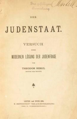 HERZL, Theodor, (1860-1904). D