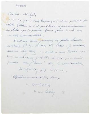 DUCHAMP, Marcel (1887-1968). L