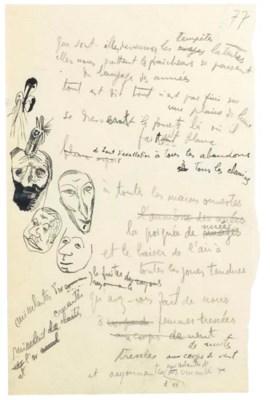 TZARA, Tristan (1896-1963). Ré