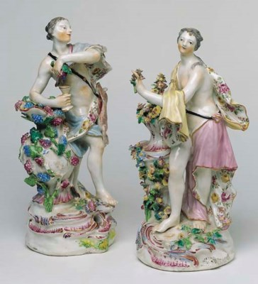 A PAIR OF CHELSEA CLASSICAL FI