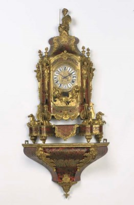 A FRENCH GILT-BRASS MOUNTED TO