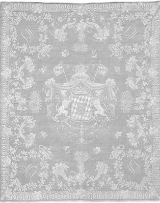 A damask linen napkin with the