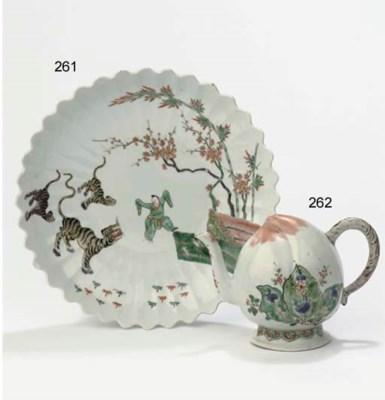 A famille verte cadogan teapot