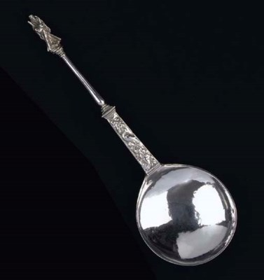 A Dutch silver memorial spoon