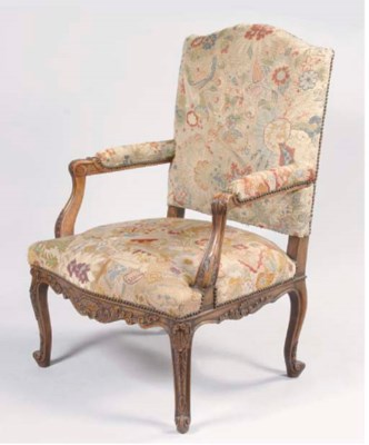 A FRENCH STAINED BEECHWOOD FAU