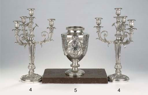 A French silver-plated wine co