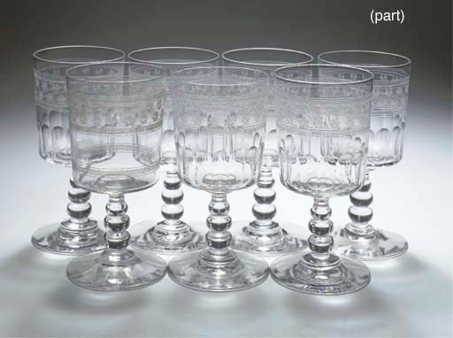 A set of twenty-two Baccarat g