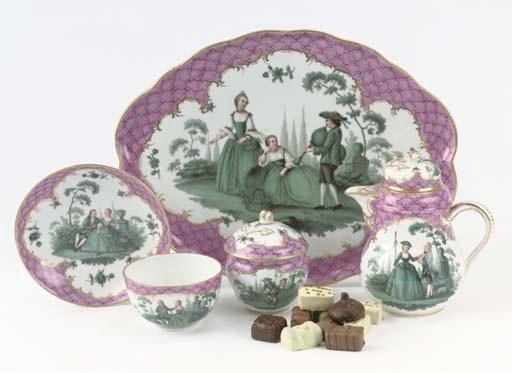 (7)  A Meissen porcelain galla