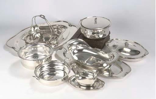 (9)  A German silver dinner se