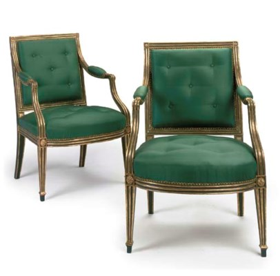 A PAIR OF GEORGE III BRONZED A