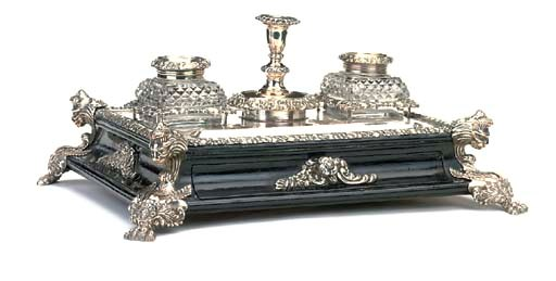 A VICTORIAN EBONISED-WOOD AND