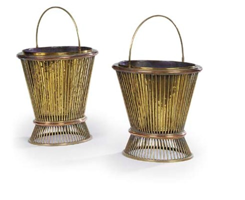 A PAIR OF DUTCH OVAL BRASS AND
