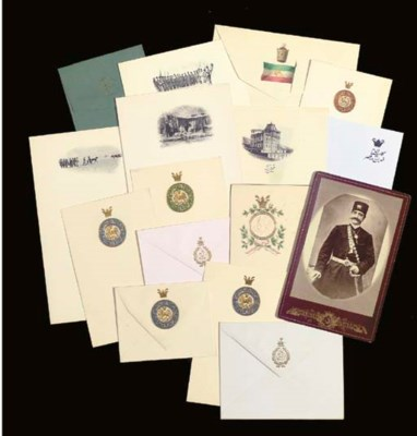 A COLLECTION OF QAJAR STATIONE