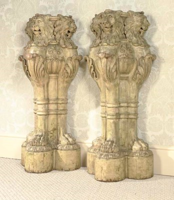A PAIR OF GEORGE IV PALE-GREEN