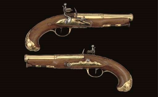 A FINE PAIR OF FRENCH FLINTLOC